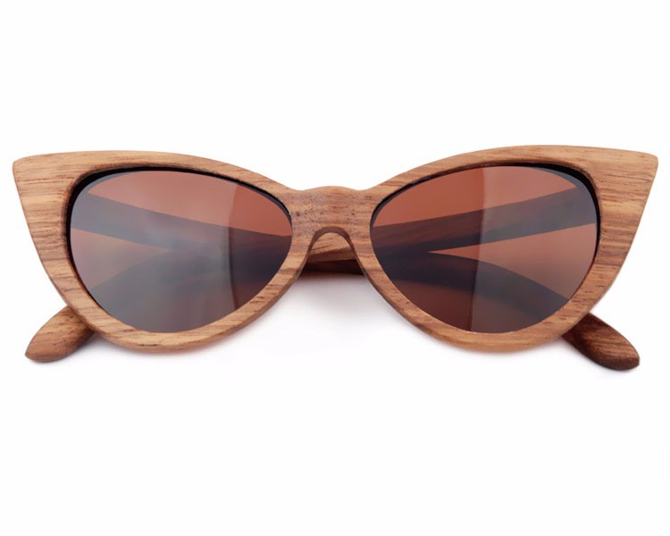 Cat Eye Wood Sunglasses